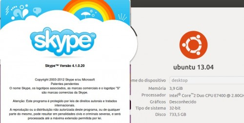 Skype 4.1 no Ubuntu 13.04