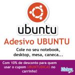 Adesivo Ubuntu com 10% de desconto